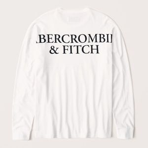 Abercrombie & Fitch Soft Long Sleeve Logo Tee